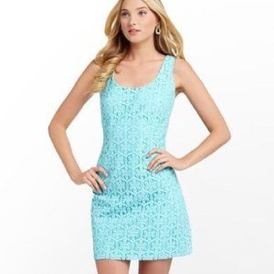 Lilly Pulitzer Lonnie Dress Shorely Blue Sz 4